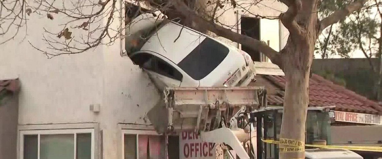Man on Drugs Drives Directly into Second Story Dental Office