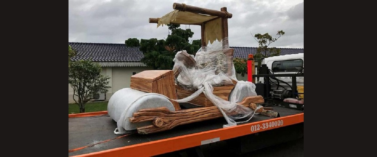 Malaysian Sultan Was Gifted a Flintstones Car