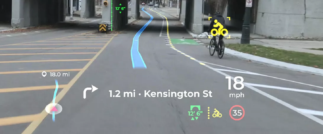 This Panasonic HUD Displays Driving Info in Augmented Reality