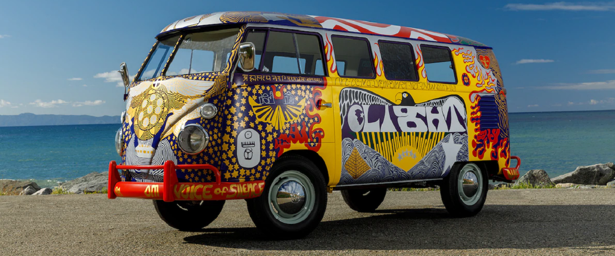 "The Iconic ""Light"" Van from Woodstock is Back on the Road"
