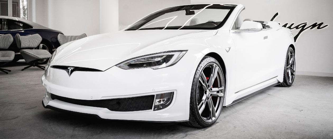 Ares Reveals Their Custom Convertible Tesla Model S