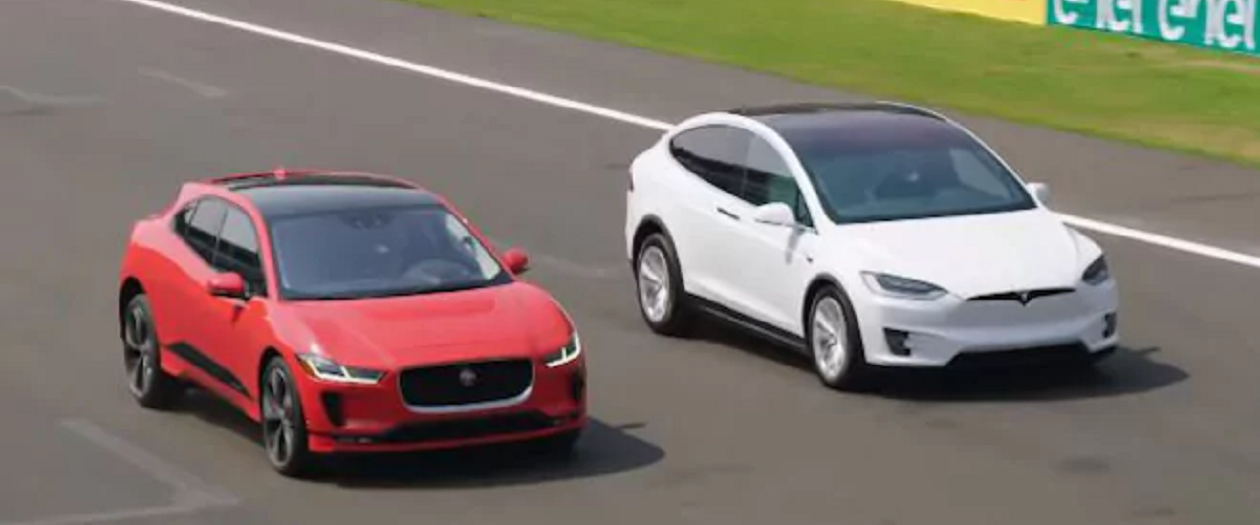 Jaguar Pits Their Car Against Tesla's