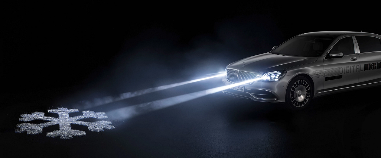 Mercedes-Maybachs Creates Image-Projecting Headlights