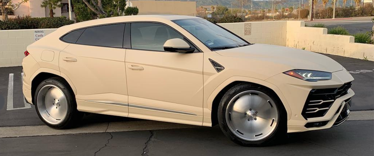 Hip Hop Head Kanye West Goes His Own Way With a Cream-Colored Lambo