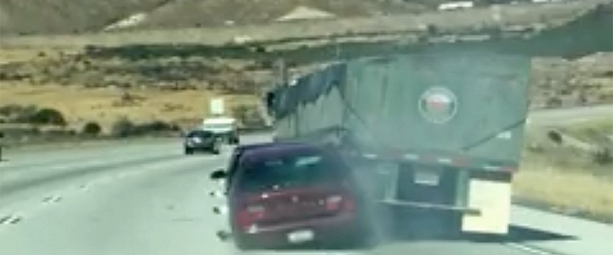 Truck Driver Unknowingly Drags Car for Miles