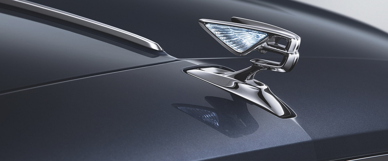 Bentley Teases the Flying Spur's Retractable Hood Ornament