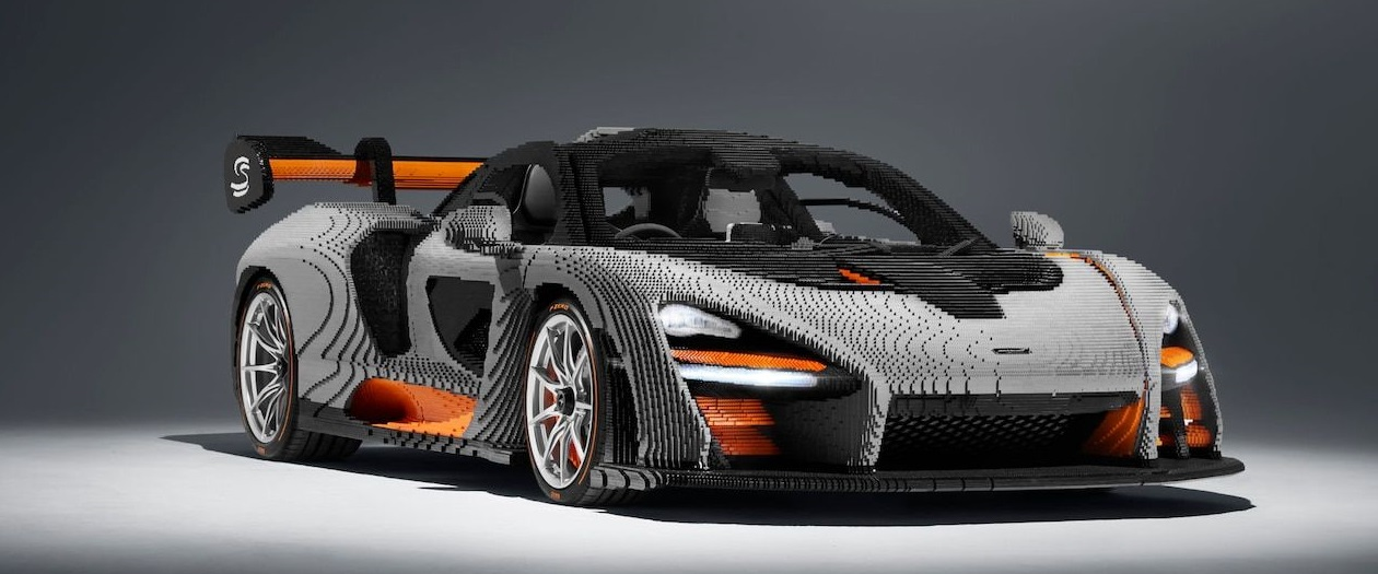 McLaren Built a Life-Sized Senna Hypercar Out of Lego Bricks