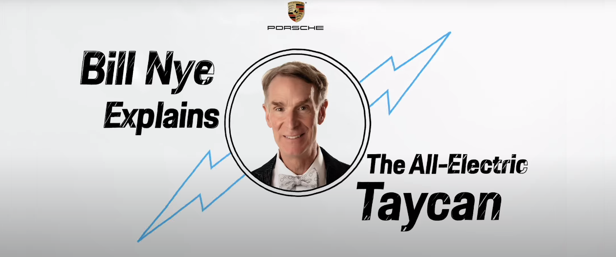 Porsche Announces Bill Nye Video Series Promoting the Taycan