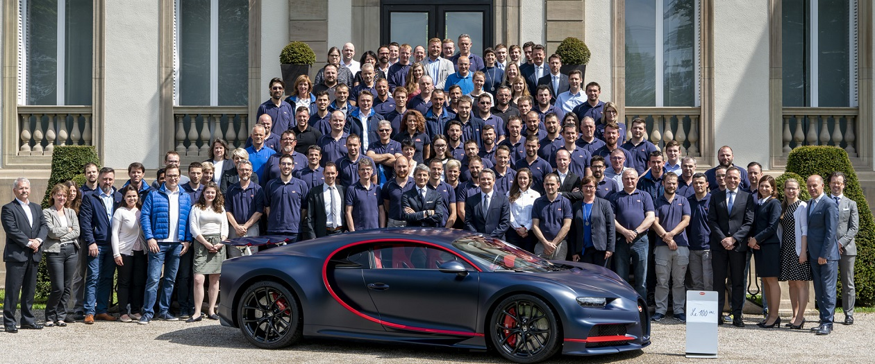 Bugatti Celebrates their 100th Chiron Built