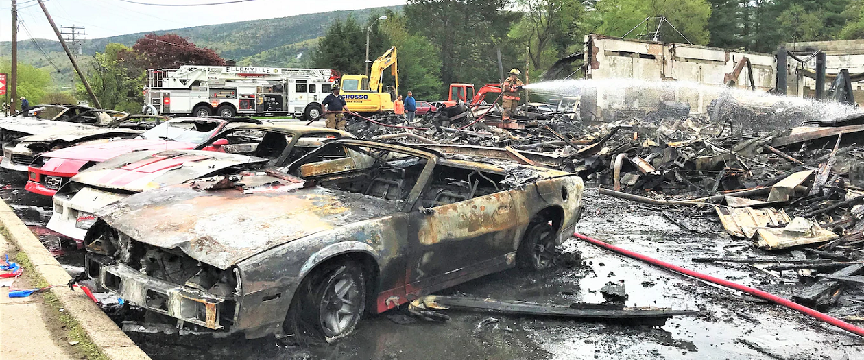 Film Fire Destroys Several Vintage Vehicles