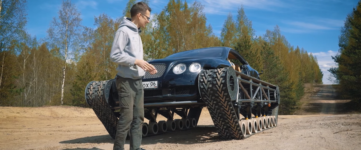 Russian YouTuber Makes a Bentley Continental GT Tank