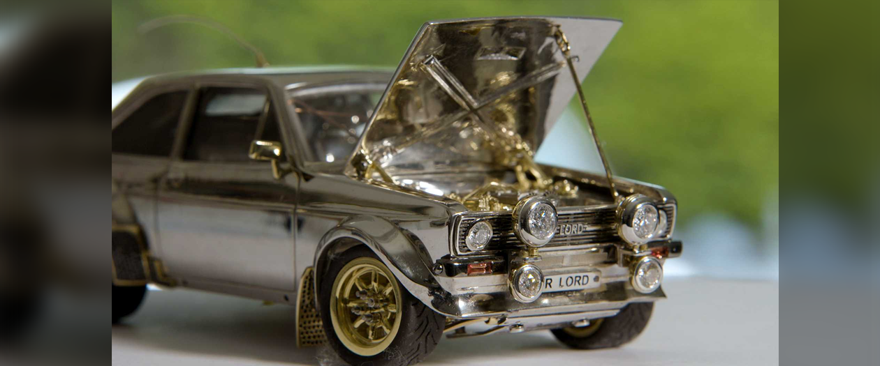 This Model Ford Escort is Made from Gold, Silver, Diamonds, More