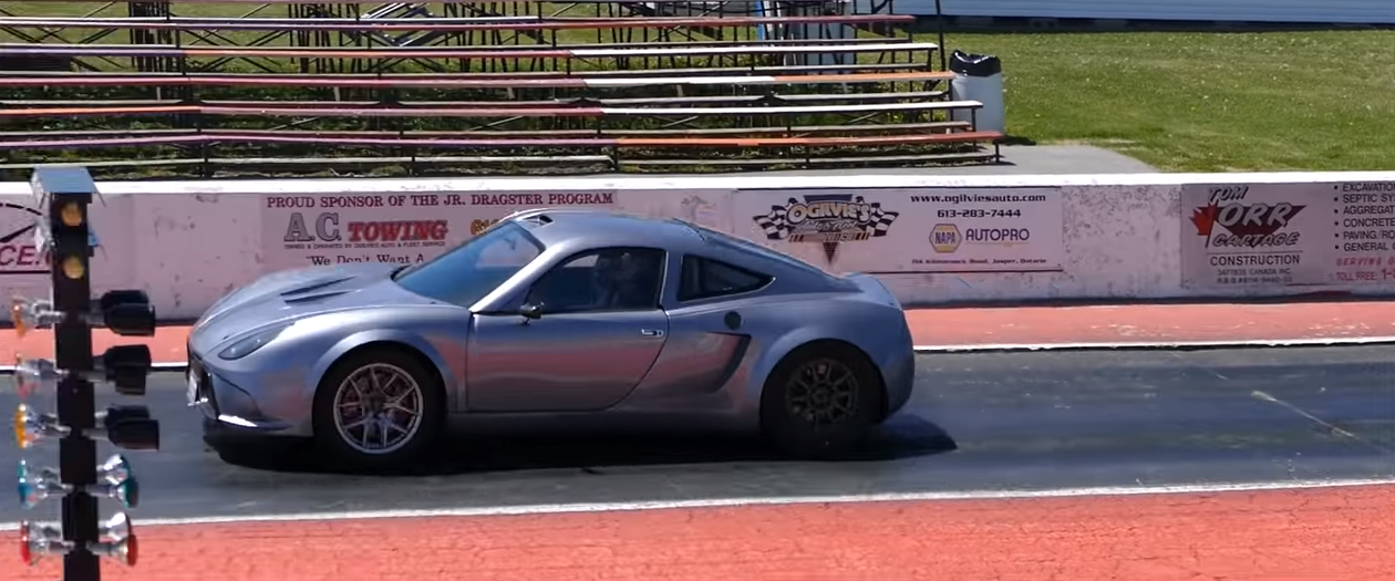 The Drag Racing Potential of an 818C Kit Car with Telsa Parts