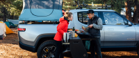 Rivian is Bringing their Electric Pickup's Pull-Out Kitchen to Production