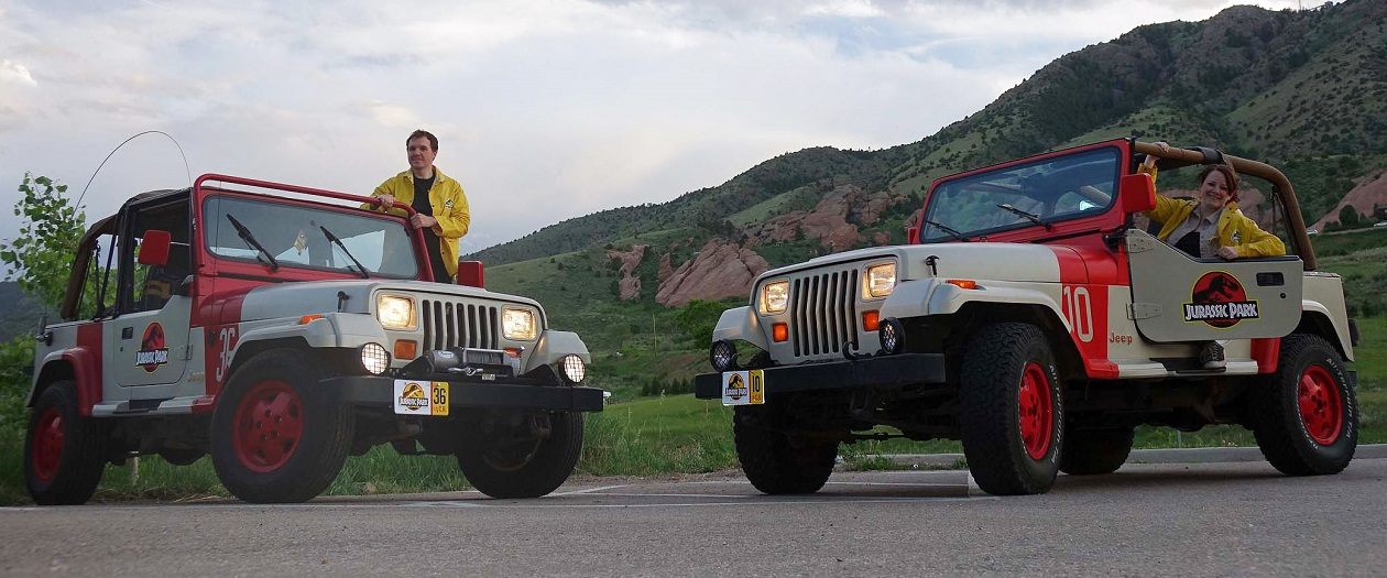 Two Fans Create Their Own Jurassic Park Jeep Wranglers