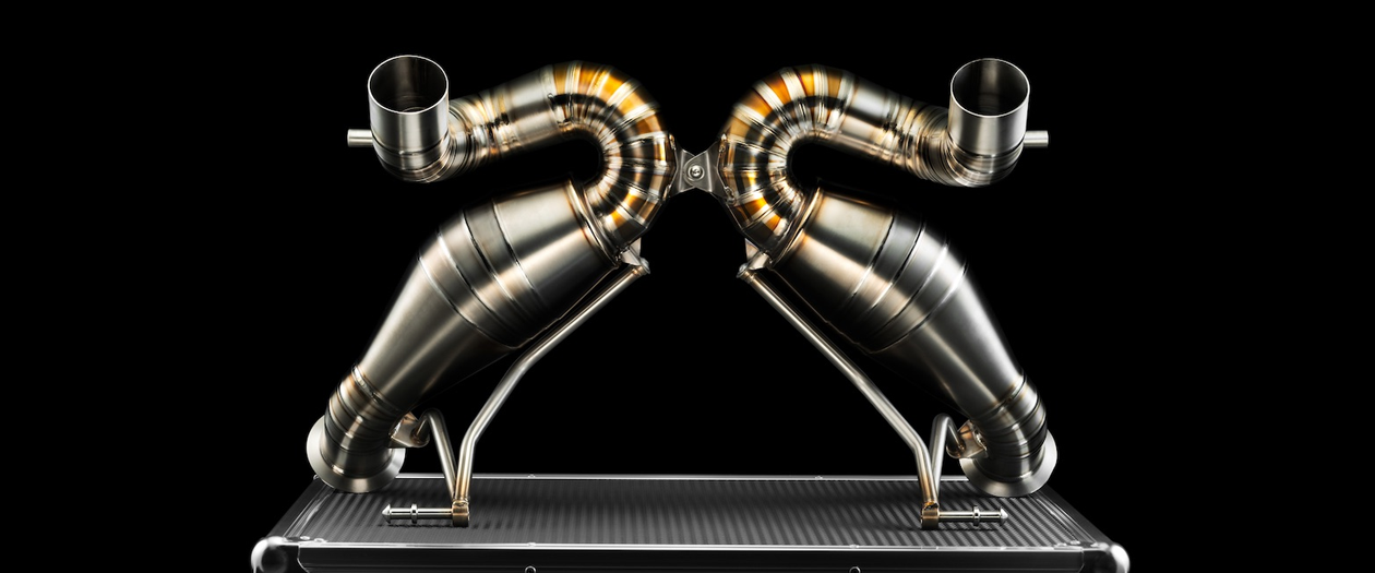Lamborghini Test Driver Designs Almost Artistic Exhaust System