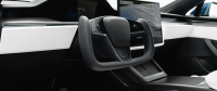 Future Tesla Model S Swaps Steering Wheels for Driving Yokes
