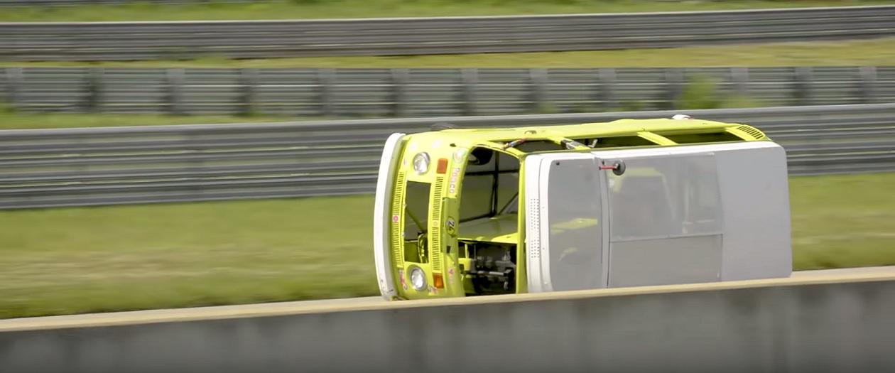 Volkswagen Camper Van Drives Sideways Through LeMons