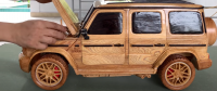 Man Builds Mercedes G63 AMG SUV Completely Out of Wood