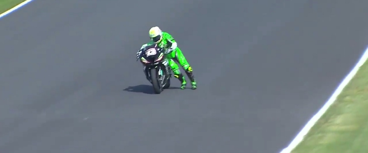 Anthony West Saves Himself from Death Wobble in Pittsburgh MotoAmerica Race
