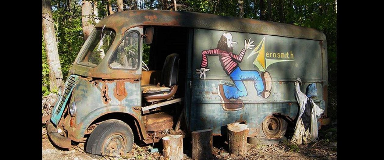 Aerosmith's First Tour Van Discovered in Massachusetts Back Yard