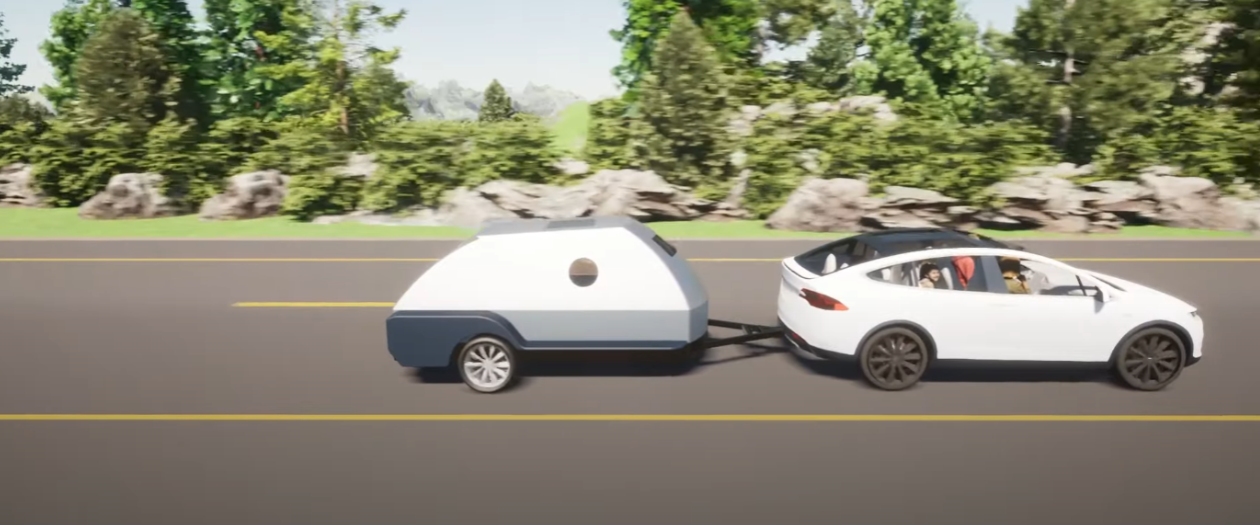 This Tow-Along Camper is Also a Spare EV Battery