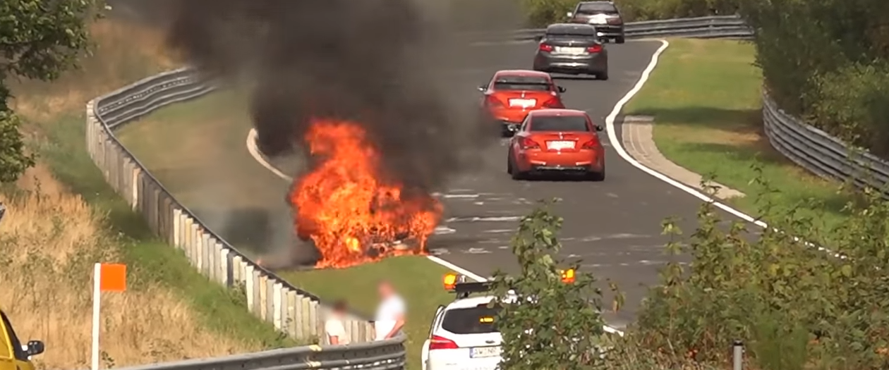Porsche 911 GT3 Bursts Into Fire at The Nurburgring