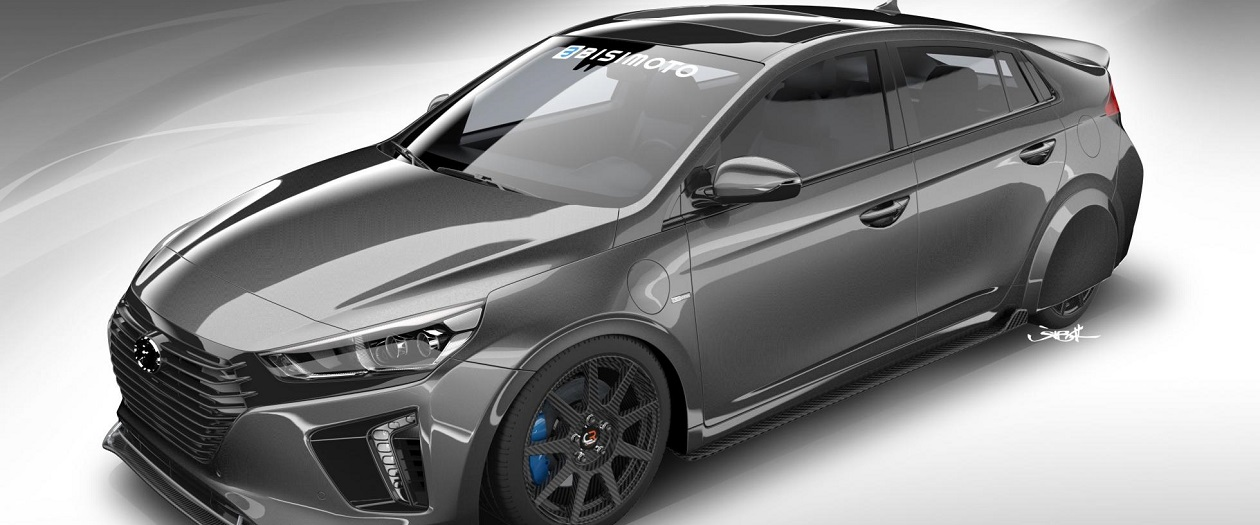 Hyundai and Bisimoto Engineering Modify The Ioniq