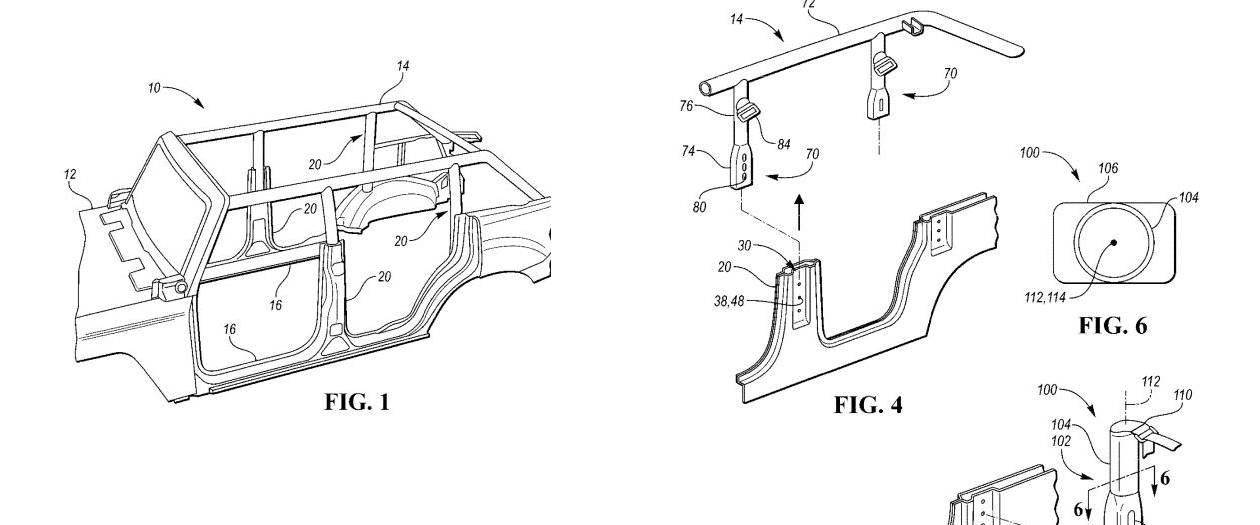 Ford Patent Implies a Removable Roll Cage for the Bronco