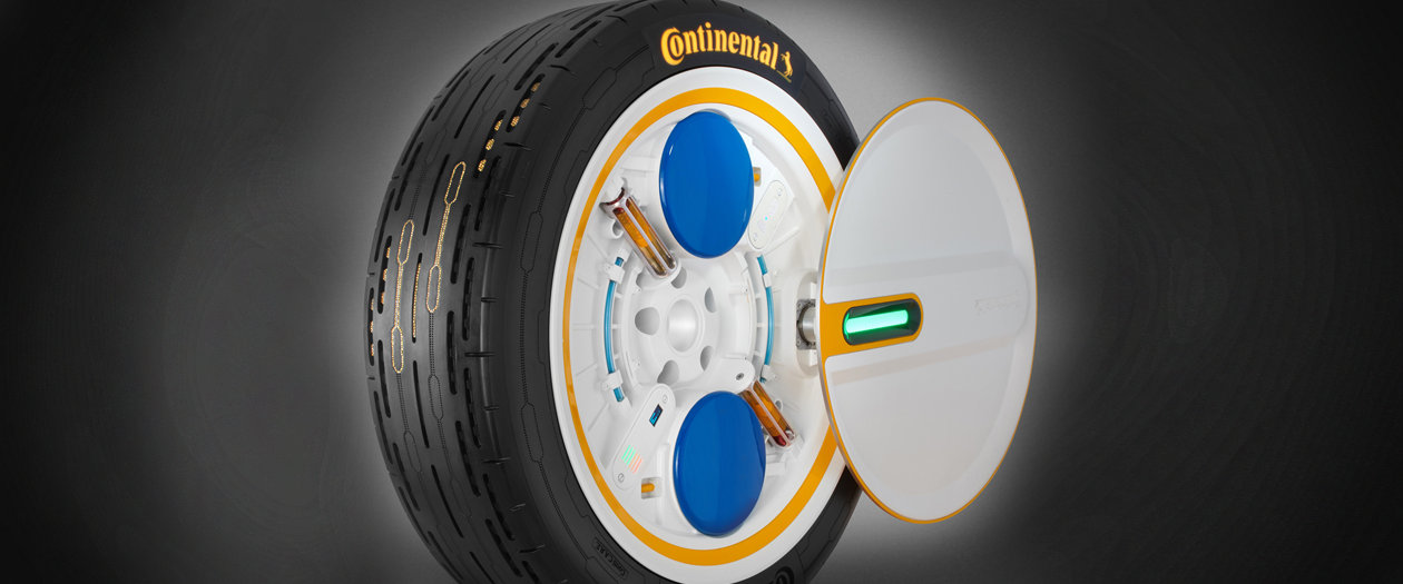 Continental Unveils a Self-Inflating Tire