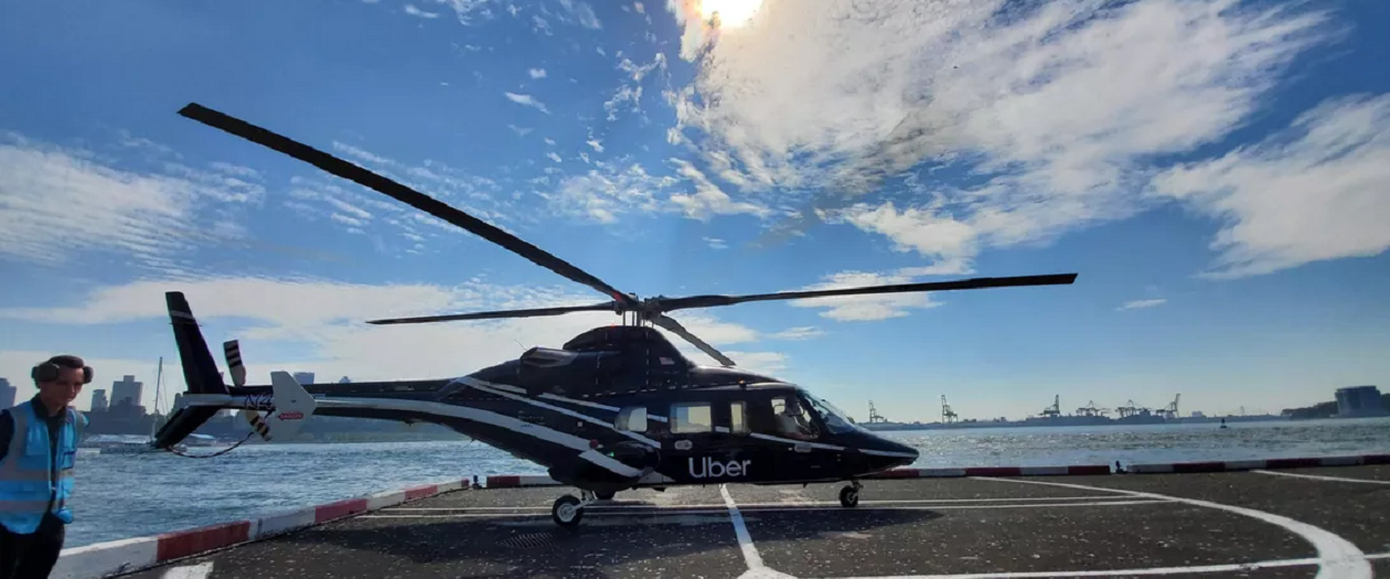 Uber Copter Launches Publicly in New York City