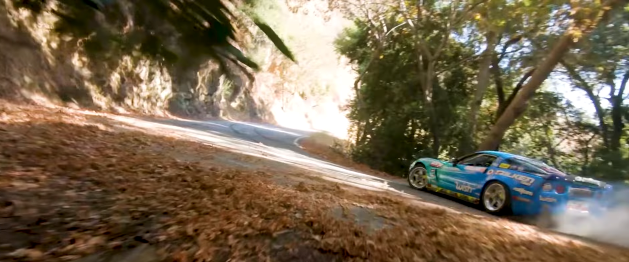 Matt Field Drifts Up a Mountain in a 1,060 HP Corvette