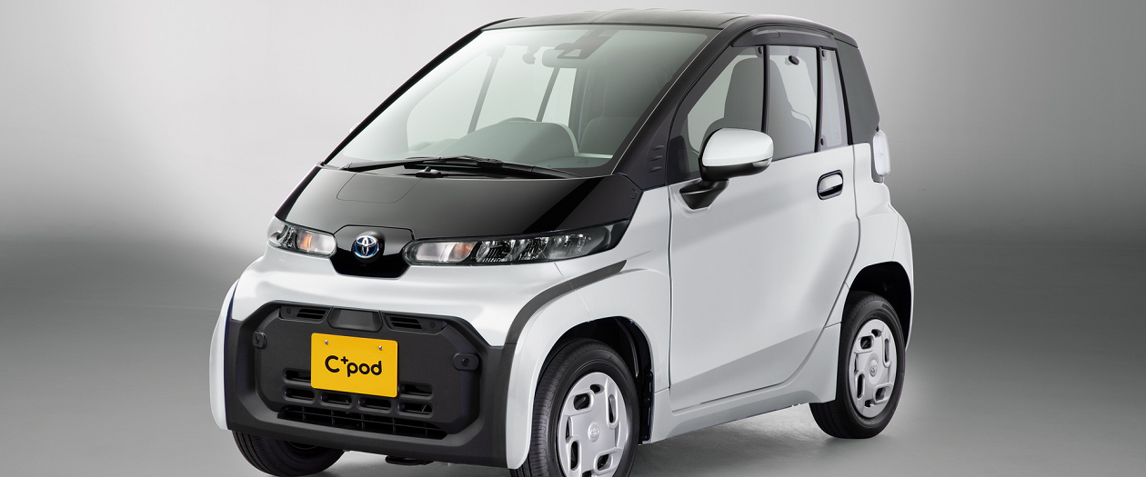 Toyota's First Battery EV is the Modest C+Pod Minicar